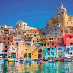 Ilha Procida em Nápoles, Itália