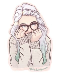 Finished prize from my post contest c: the winner was blessingsdarling! - gorgeous girl art very Pastel light pink with glasses Cartoon Kunst, Cartoon Art, Cartoon Girl Drawing, Cartoon Girls, Art And Illustration, Illustration Girl Glasses, Cute Drawings, Drawing Sketches, Girl Drawings