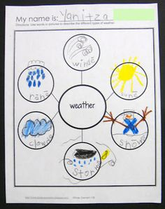 Student made Weather Bubble Tree 1  http://kinderqueendom.blogspot.com/
