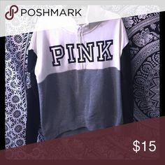 Victoria's Secret pink hoodie half zip Half zip Victoria's Secret pink hoodie PINK Victoria's Secret Tops Sweatshirts & Hoodies