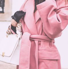 Pink wool coat by House of Sunny via Asos. Pink coats. The Fashion Rose http://www.thefashionrose.com/2017/01/outfit-the-pink-coat.html