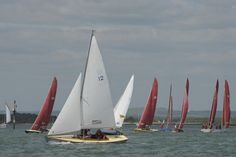Rdwings and a Bembridge OD, all racing in Chichester Harbour - time ever! Chichester, Sailing, June, Boat, Candle, Dinghy, Boats, Ship
