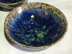 Sandra and Maria Vumbaca, Ceramic artists. Rustic Ceramics, Australian Art, Ceramic Artists, Earthenware, Clay Art, Ceramic Pottery, Glaze, Decorative Bowls, Vibrant Colors