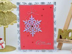 Carte Silver Snowflakes