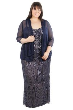 a8177b30970 R M Richards Plus Size Long Formal Gown Chiffon Jacket Long Formal Gowns