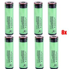 8PCS NCR18650B 3.7V 3400mAh Protected Rechargeable Lithium Battery