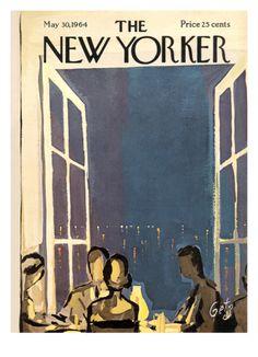 Premium Giclee Print: Arthur Getz Poster by Arthur Getz : The New Yorker, New Yorker Covers, Illustration Noel, Illustrations, Vintage Magazines, Old Magazines, Capas New Yorker, Graphic Design Magazine, Magazine Design