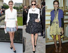 A it girl Olivia Palermo arrasou em diversos desfiles com seus looks sempre elegantes e baphônicos! Repare como ela consegue misturar vestidos e acessórios sem pesar ;)