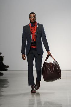Pin for Later: Just What You've Been Missing: The 25 Sexiest Man Moments of NYFW He Could Carry Our Bag Any Day At Perry Ellis