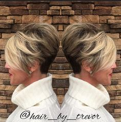 Ombre Pixie Haircut for Women Short Hair - Short Hairstyles for Thick Hair