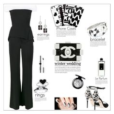 """""""Winter Wedding: Black & White Theme"""" by atelier-briella ❤ liked on Polyvore featuring Roland Mouret, Dolce&Gabbana, Chanel, Kevin Jewelers, Stephen Webster, Serge Lutens, chic, Elegant, iPhonecases and winterwedding"""
