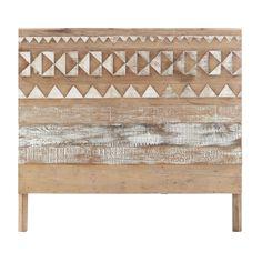 Tête de lit à motifs en bois recyclé L 140 cm Tikka | Maisons du Monde