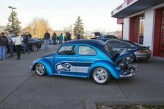 Cool Seattle Seahawks VW Bug. #NflFanRides #SeattleSeahawks #SeattleSeahawksCar