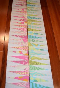 Paper pieced border. Cool! #quilt