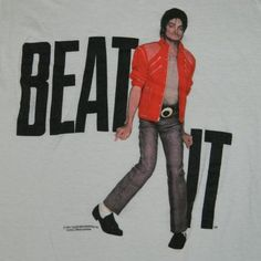 Vintage MICHAEL JACKSON BEAT IT 1984 LARGE T-Shirt Original