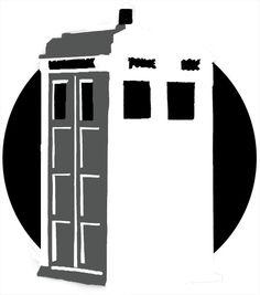 TARDIS Doctor Who pumpkin carving template