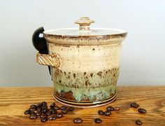Canister Coffee Canister Flour / Sugar by RiverStonePottery, $45.00