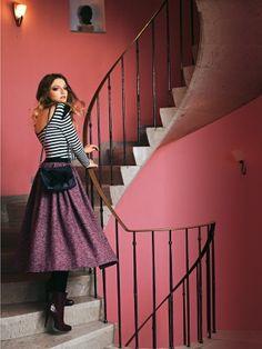 Schnittmuster: Tellerrock - Ripsbandbund - Tweed - Damen - burda style