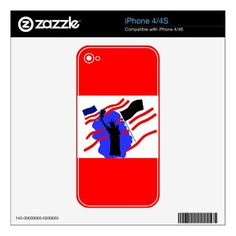 Independence Day Skins For The Iphone 4 by www.zazzle.com/artistjandavie8