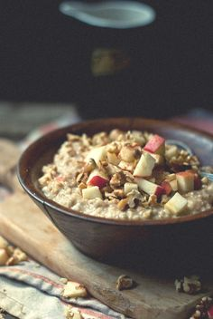 Apple steel cut oats