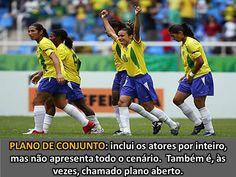 Plano de conjunto - Jogo da seleção brasileira feminina de futebol