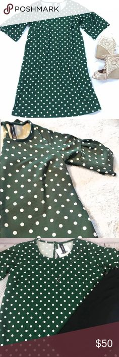 ❇️N E W❇️ Agnes & Dora Adams Dress NEW Agnes & Dora Adams Dress •Green w/white polka dots • M (8-10)  Iconic style, elbow length inverted sleeves, keyhole detail w/back button closure, A-line silhouette.  ✳️Recommend sizing down or can stay true to size ✳️ 96% Polyester 4% Spandex = think no ironing!! - - - - - - - - - - - - - - - - - - - - -  💰B U N D L E💰to SAVE  🛑 I accept REASONABLE offers. Please be respectful of my closet. 🛑 🙅🏻♀️No trades or modeling🙅🏻♀️ ↣Check back…