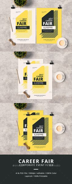 Career Fair Flyer — PSD Template #poster #symposium • Download ➝ https://graphicriver.net/item/career-fair-flyer/18134666?ref=pxcr