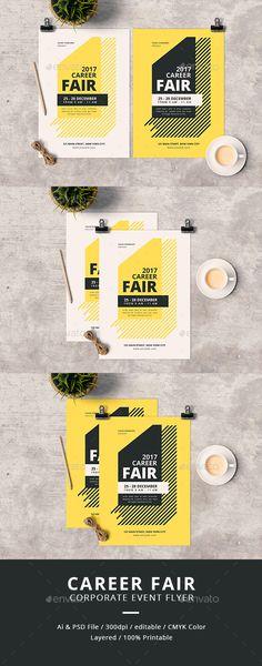 Career Fair Flyer  — PSD Template #poster #symposium • Download ➝ https://graphicriver.net/item/career-fair-flyer/18134666?ref=pxcr