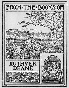 Bookplate of Ruthven Deane