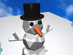 Having fun making #geometric #snowmen in #Morphi! Will try to print later. :) #3dprinting #3Dmodeling #STEAM #makerED