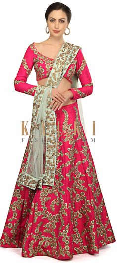 Krissann Barrettor in Kalki rani pink embroidered lehenga Pink Lehenga, Indian Wear, Indian Outfits, Color Combinations, Pakistani, Sari, Traditional, Bridal, How To Wear