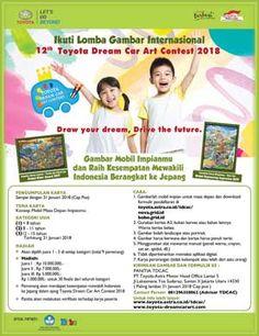 #Lomba #Menggambar #TDCAC #Toyota #DreamCarArtContest Toyota Dream Car Art Contest 2018 Lomba Menggambar Berhadiah Total 106 Juta Rupiah  DEADLINE: 31 Januari 2018  http://infosayembara.com/info-lomba.php?judul=toyota-dream-car-art-contest-2018-lomba-menggambar-berhadiah-total-106-juta-rupiah
