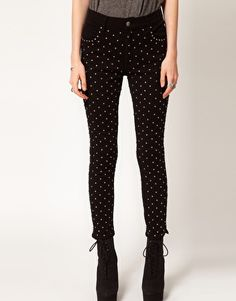Enlarge Evil Twin 'Voodoo' High Waisted Studded Jeans