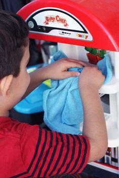 Attività per bambini: Pulizie in
