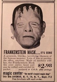 Frankenstein mask ad