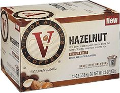 Victor Allen's Coffee 12-Count Single Serve Cup for Keurig K-Cup Brewers Hazelnut, Medium Roast, 12 Count (Pack of 6) ** Wow! I love this. Check it out now! : K Cups