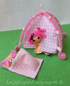 Lalaloopsy Mini - Tent and Sleeping Bag Playset - Pink Gingham
