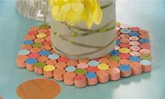 Watch How to Make a Cork Trivet in the Better Homes and Gardens Video- Love this idea...