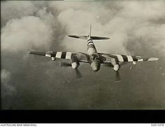 The de Havilland DH 98 Mosquito, a two-man crew multi-role combat aircraft of the Royal Air Force.