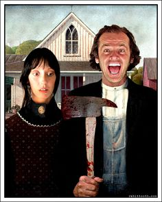 A Shining Gothic ( The Shining / American Gothic ) by *Rabittooth on deviantART