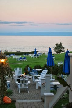 Beachmere Inn in the fall.  Enjoy Sunsets that are reflected out over the ocean