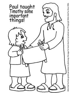 Printable Coloring Page For Sunday School Lesson
