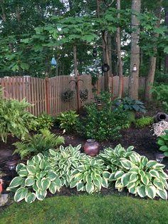 Shade garden 327355466667704935 - Hosta shade garden Source by Outdoor Landscaping, Outdoor Plants, Front Yard Landscaping, Outdoor Gardens, Landscaping Ideas, Backyard Plants, Outdoor Spaces, House Landscape, Landscape Design
