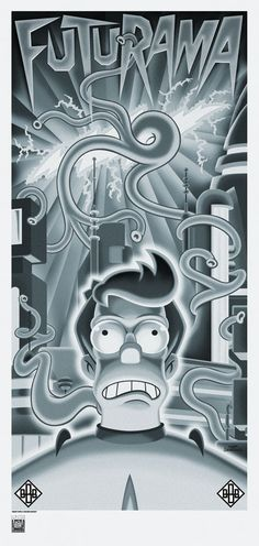"Futurama Art ""BEAST WITH A BILLION BACKS"" by Serban Cristescu - The Incredible Art Gallery"