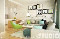 Zdjęcie: Modne mieszkanie - Salon - Styl Skandynawski - MIKOŁAJSKAstudio