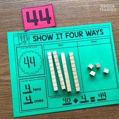 Math Centers Place Value Math Center activities to teach students how to write, model and draw numbers using tens and ones.Place Value Math Center activities to teach students how to write, model and draw numbers using tens and ones. Maths Guidés, Math Classroom, Fun Math, Teaching Math, Math Math, Math Games, Math Fractions, Teaching Place Values, Subitizing