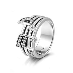 #BFCM #CyberMonday #Soufeel - #Soufeel Soufeel Musical Note Ring Sterling Silver - AdoreWe.com