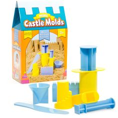 Castle Molds that set your imagination afire. Use sand, dough, compound to craft your creations.