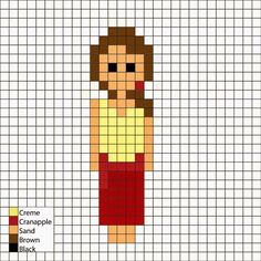 Tarzan, Jane in Jane of the Jungle dress - Perler Mania Pattern