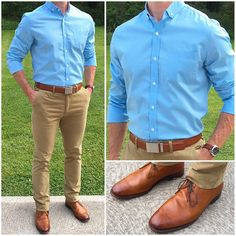 Launch Day 😎🌴👍🏼👍🏼 The new summer shirts launched on their site today❗️ I love this brighter teal blue shirt for summer… Stylish Men, Men Casual, Casual Shoes, Formal Men Outfit, Semi Formal Outfits, Moda Formal, Look Man, Herren Outfit, T Shirt Designs